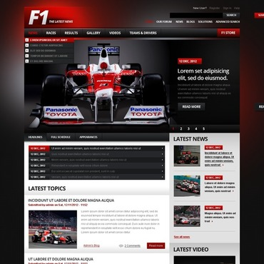 Car Racing Drupal Template