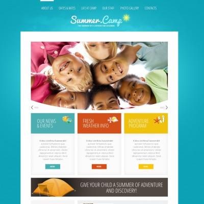 summer camp joomla templates