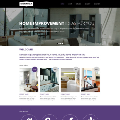 Home Remodeling Web Design