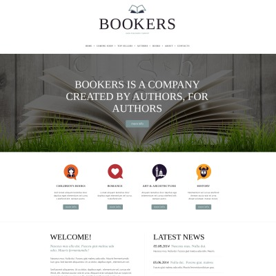 Publishing company website templates for Publisher website templates
