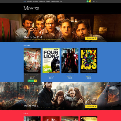 Movie Responsive OpenCart Template