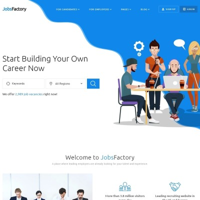Job Portal Templates Templatemonster
