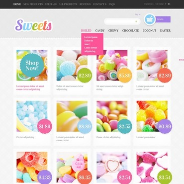 Sweet Shop ZenCart Template