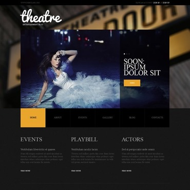 Theater Joomla Template