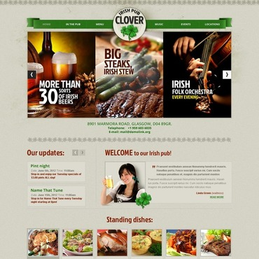Pub Website Template