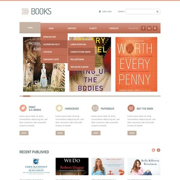 Book Reviews Joomla Template