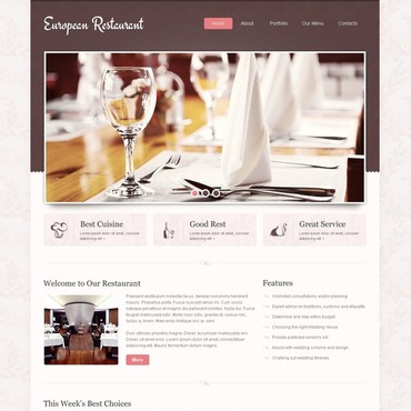 European Restaurant Website Template