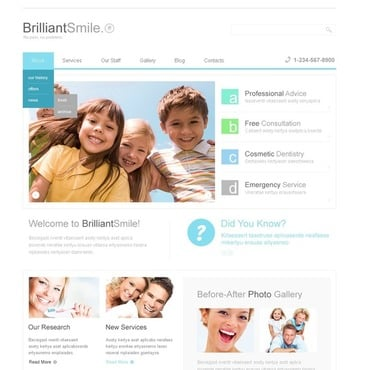 Dentistry Joomla Template