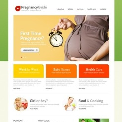 Pregnancy Website Template