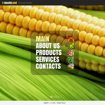 Agriculture Website Template #40902