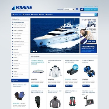 Yachting OsCommerce Template