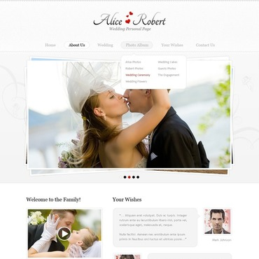 Wedding Flash CMS Template