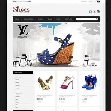 Shoes Store OsCommerce Template #41326