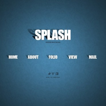 Web Design Facebook Flash CMS Template