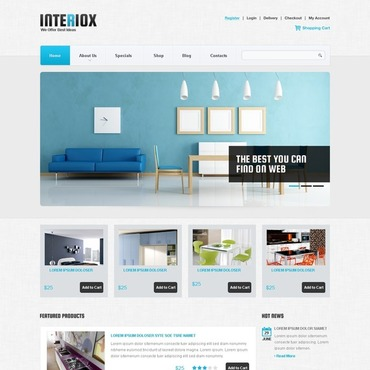 Interior Design Responsive Jigoshop Theme