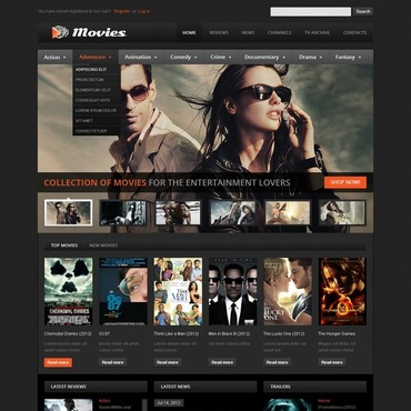 Movie Flash CMS Template