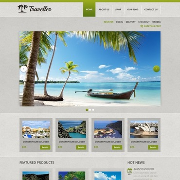 Travel Responsive Jigoshop Theme
