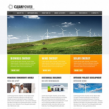 Alternative Power Moto CMS HTML Template