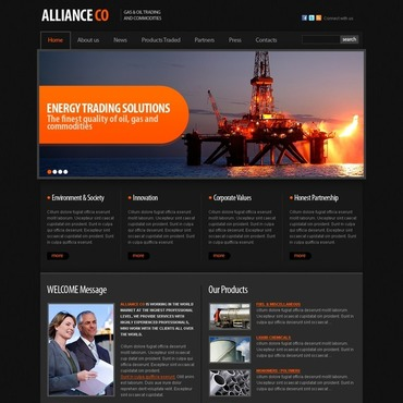 Gas & Oil Facebook Flash CMS Template