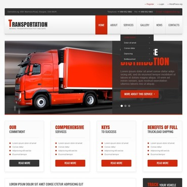 Transportation Responsive WordPress Theme