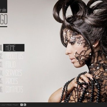 Hair Salon Flash CMS Template