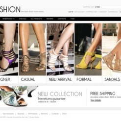 Shoe Store ZenCart Template