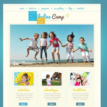 Summer Camp Joomla Template