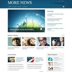 News Portal Facebook HTML CMS Template