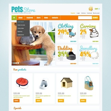 Pet Shop Responsive Jigoshop Theme