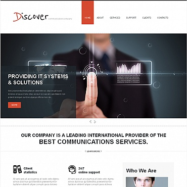 Communications Moto CMS HTML Template