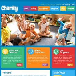 Child Charity Facebook HTML CMS Template