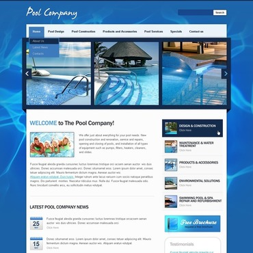 Pool Cleaning Flash CMS Template