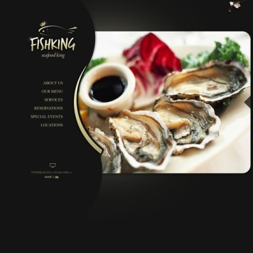 Seafood Restaurant Flash CMS Template