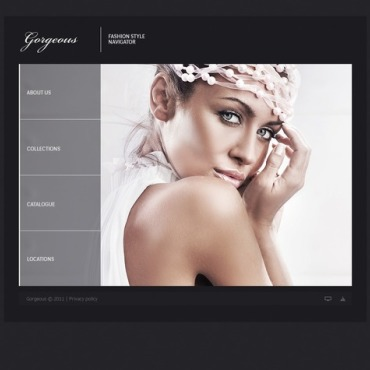 Fashion Flash CMS Template