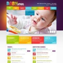 Babysitter Facebook HTML CMS Template