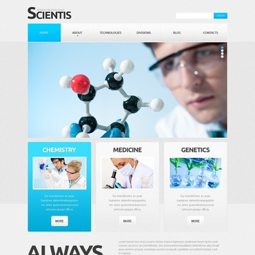 Science Responsive Website Template