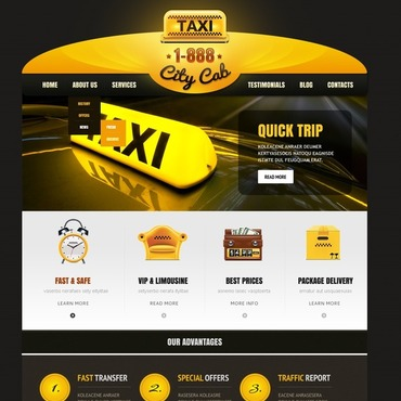 Taxi WordPress Theme