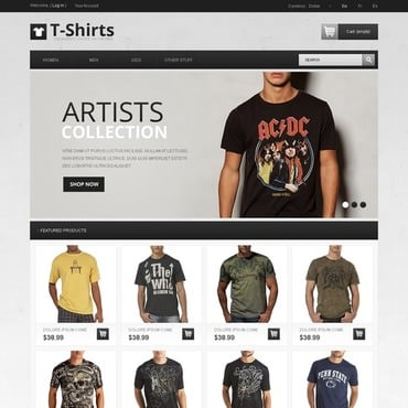 T-shirt Shop PrestaShop Theme