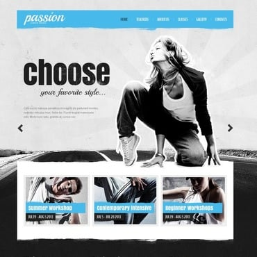 Dance Studio Responsive Website Template