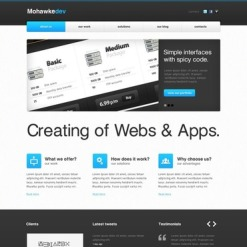 Web Development Facebook HTML CMS Template