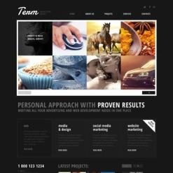 Advertising Agency Responsive Website Template