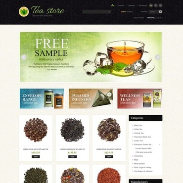 Tea Shop PrestaShop Theme