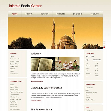 Islam Moto CMS HTML Template