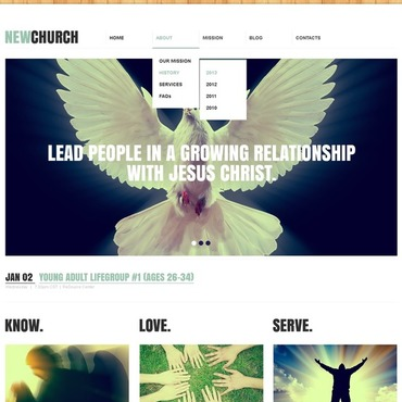 Religious Responsive Website Template #44130