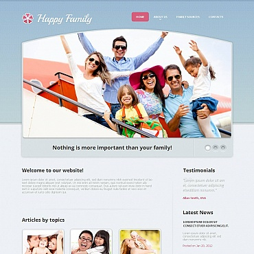 Family Center Moto CMS HTML Template