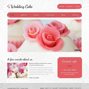 Wedding Cake Moto CMS HTML Template