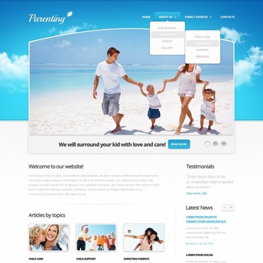 Family Facebook HTML CMS Template