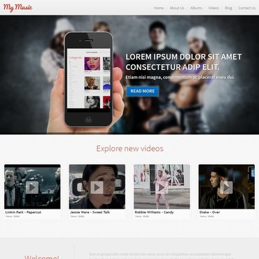 Music Responsive WordPress Theme