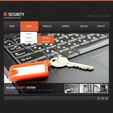 Security Website Template