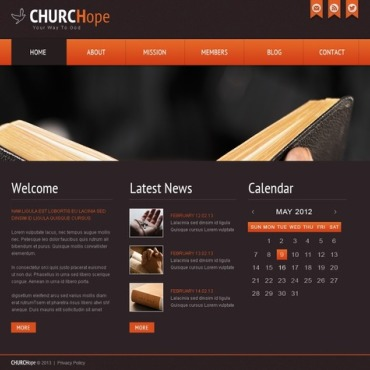 Religious Website Template